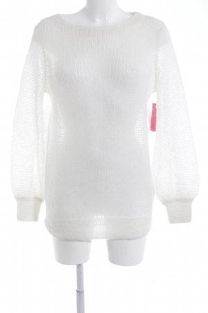 & other stories Grobstrickpullover wollweiß Casual-Look