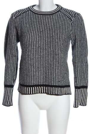 & other stories Jersey de ganchillo blanco-negro punto trenzado look casual