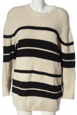 & other stories Pullover all'uncinetto bianco sporco-nero punto treccia