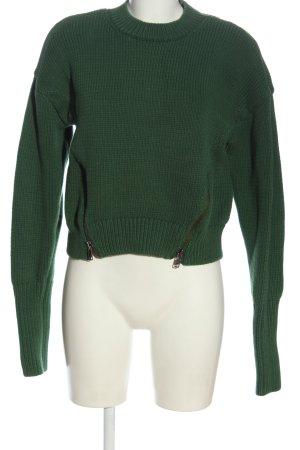 & other stories Jersey de ganchillo verde look casual