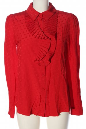 & other stories Hemd-Bluse rot Allover-Druck Business-Look