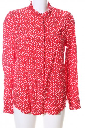 & other stories Shirt Blouse red-white allover print casual look
