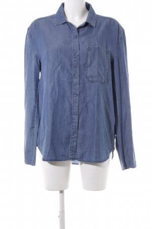& other stories Hemd-Bluse stahlblau Casual-Look