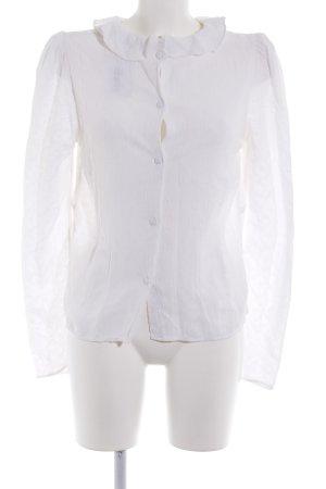 & other stories Koszulowa bluzka biały W stylu biznesowym