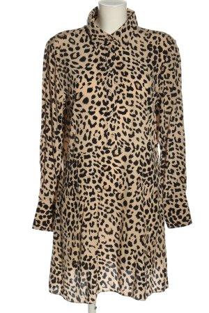 & other stories Shirtwaist dress nude-black leopard pattern elegant