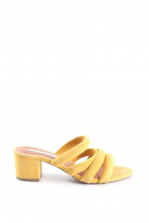 & other stories Sandalias de tacón alto amarillo pálido look casual