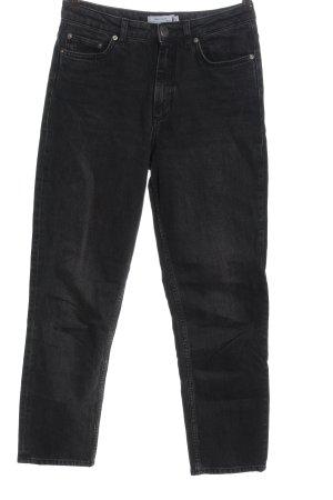 & other stories Jeans taille haute noir motif rayé style décontracté