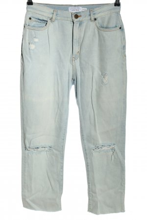 & other stories High Waist Jeans himmelblau Destroy-Optik