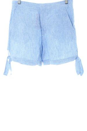 & other stories High waist short blauw-wit gestreept patroon casual uitstraling