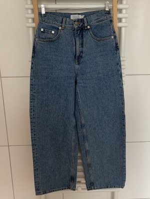 & other stories Hoge taille jeans blauw Katoen