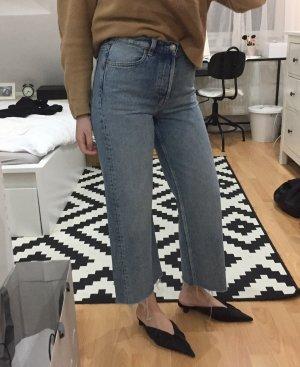 & other stories Hoge taille jeans lichtblauw-blauw Katoen