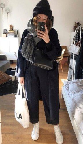 & other stories Wełniane spodnie ciemnoniebieski-niebieski