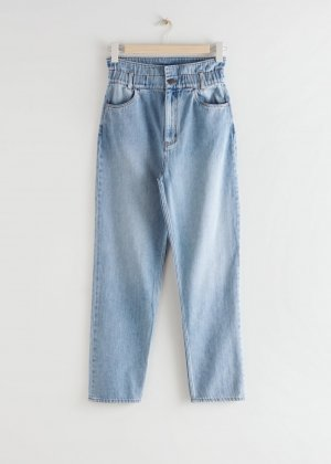 & other stories Paperbag Trousers azure