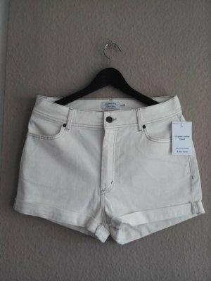 & Other Stories Jeansshorts in wollweiß aus Bio-Baumwolle, Größe 40, neu
