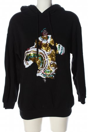 & other stories Sweatshirt met capuchon zwart prints met een thema