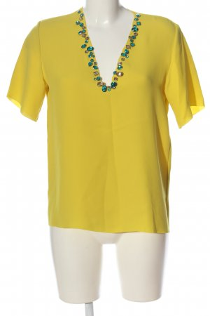 & other stories Blusa de manga corta amarillo pálido look casual
