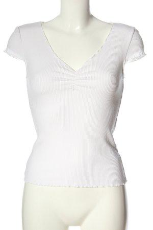& other stories Geribd shirt wit kabel steek casual uitstraling