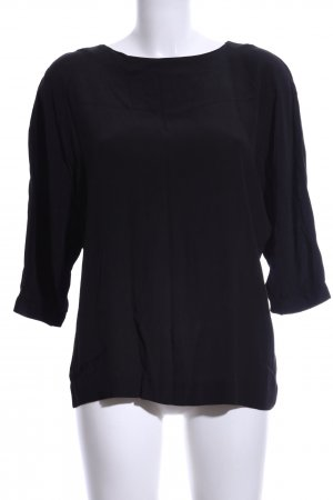 & other stories Kurzarm-Bluse schwarz Casual-Look