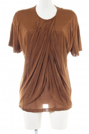 & other stories Kurzarm-Bluse braun Casual-Look