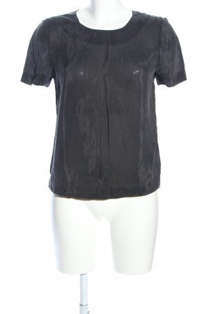 & other stories Kurzarm-Bluse hellgrau Casual-Look