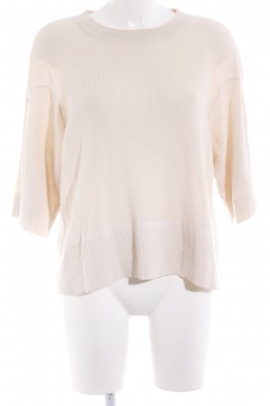 & other stories Kurzarmpullover creme Casual-Look