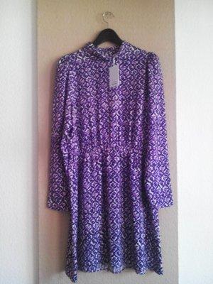 & other stories kurzes Kleid in weiß-lila, Paris Atelier, Größe 42, neu
