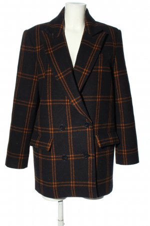 & other stories Short Coat black-light orange check pattern casual look