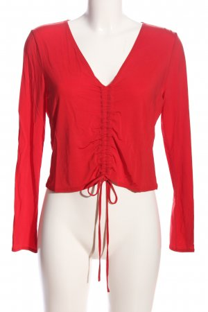 & other stories Langarm-Bluse rot Casual-Look