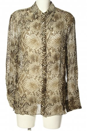 & other stories Long Sleeve Blouse natural white-brown allover print casual look