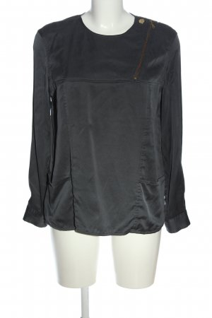 & other stories Langarm-Bluse schwarz Casual-Look