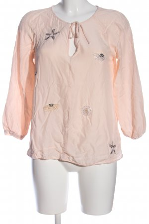 & other stories Langarm-Bluse pink-silberfarben Casual-Look