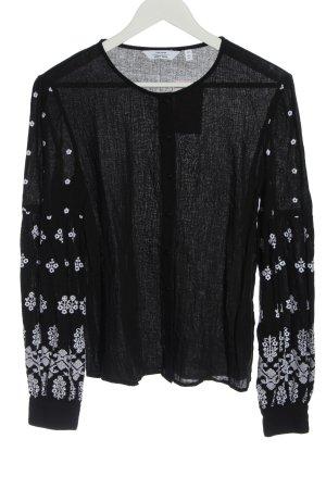 & other stories Shirt met lange mouwen zwart grafisch patroon casual uitstraling