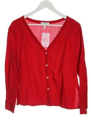 & other stories Shirt met lange mouwen rood casual uitstraling