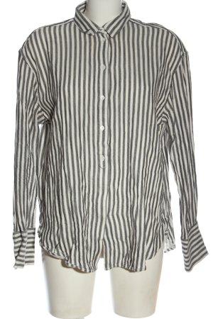 & other stories Long Sleeve Shirt light grey-natural white allover print elegant