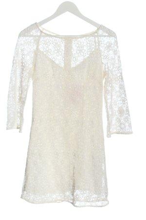 & other stories Longsleeve Dress natural white weave pattern elegant