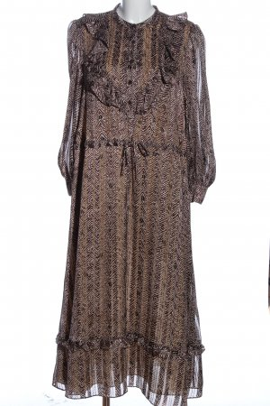& other stories Longsleeve Dress brown-white allover print classic style