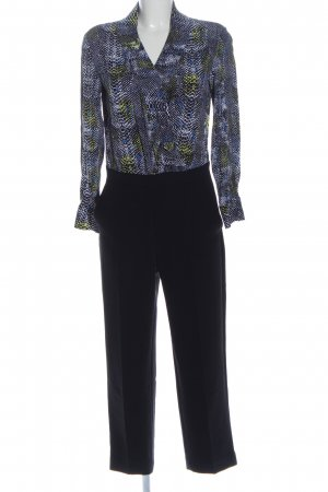 & other stories Langer Jumpsuit black animal pattern business style