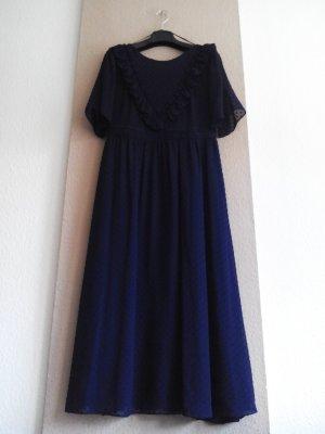 & other stories langes ausgestelltes Kleid in Marineblau, Paris Atelier, Größe 38, neu