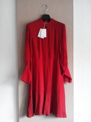 & other stories langes Kleid in rot mit Volant am Saum, Stockholm Atelier, Größe 38 neu
