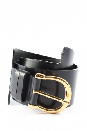 & other stories Cintura in ecopelle nero-oro stile casual
