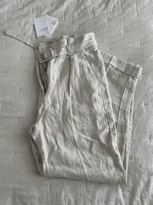 & other stories Linen Pants natural white-beige linen