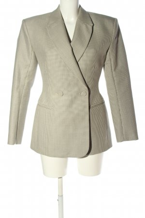 & other stories Long-Blazer creme-schwarz Allover-Druck Business-Look
