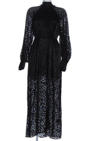 & other stories Maxi abito nero-grigio chiaro motivo astratto elegante