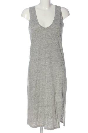& other stories Midi-jurk lichtgrijs gestippeld casual uitstraling