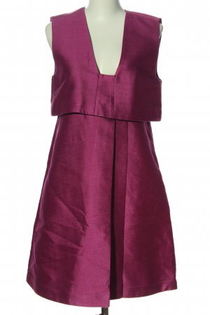 & other stories Midikleid rot meliert Casual-Look