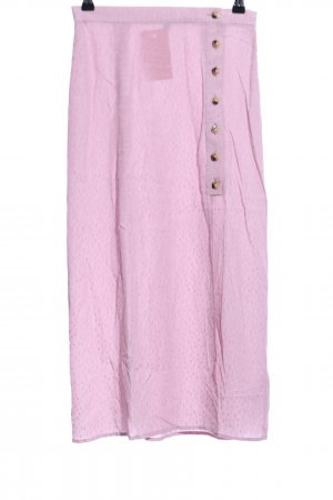& other stories Midirock pink Punktemuster Casual-Look