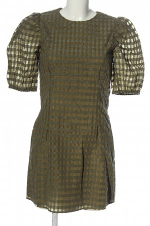 & other stories Mini Dress khaki check pattern casual look