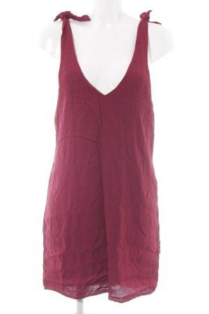 & other stories Mini-jurk donkerrood Strik detail