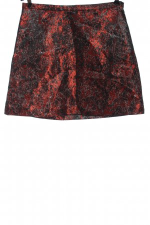 & other stories Minirock rot-schwarz abstraktes Muster Elegant