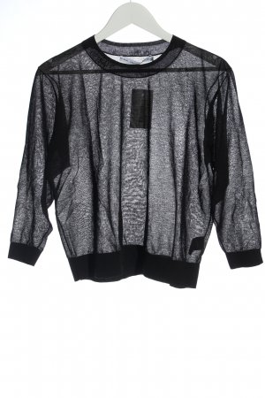 & other stories Mesh Shirt black simple style